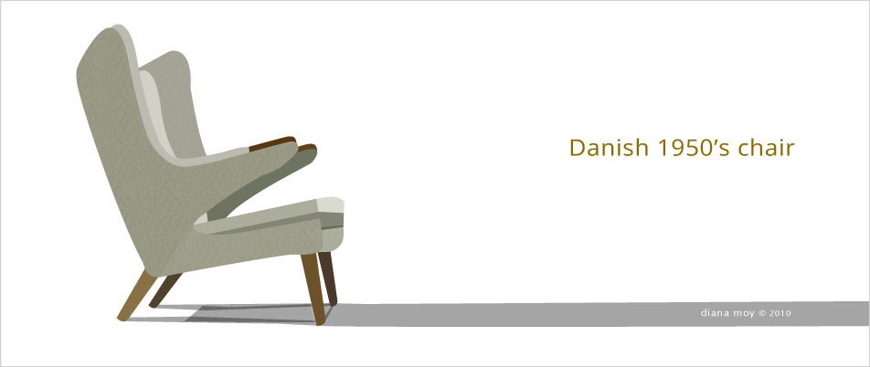Illustration: Danish chair