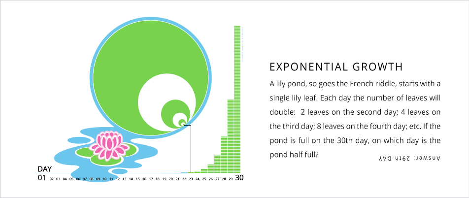 Exponential Growth – Lily pond